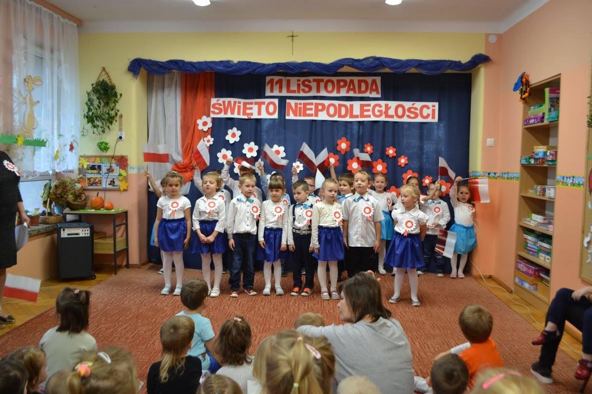Święto Niepodległości w Przedszkolu w Skopaniu.