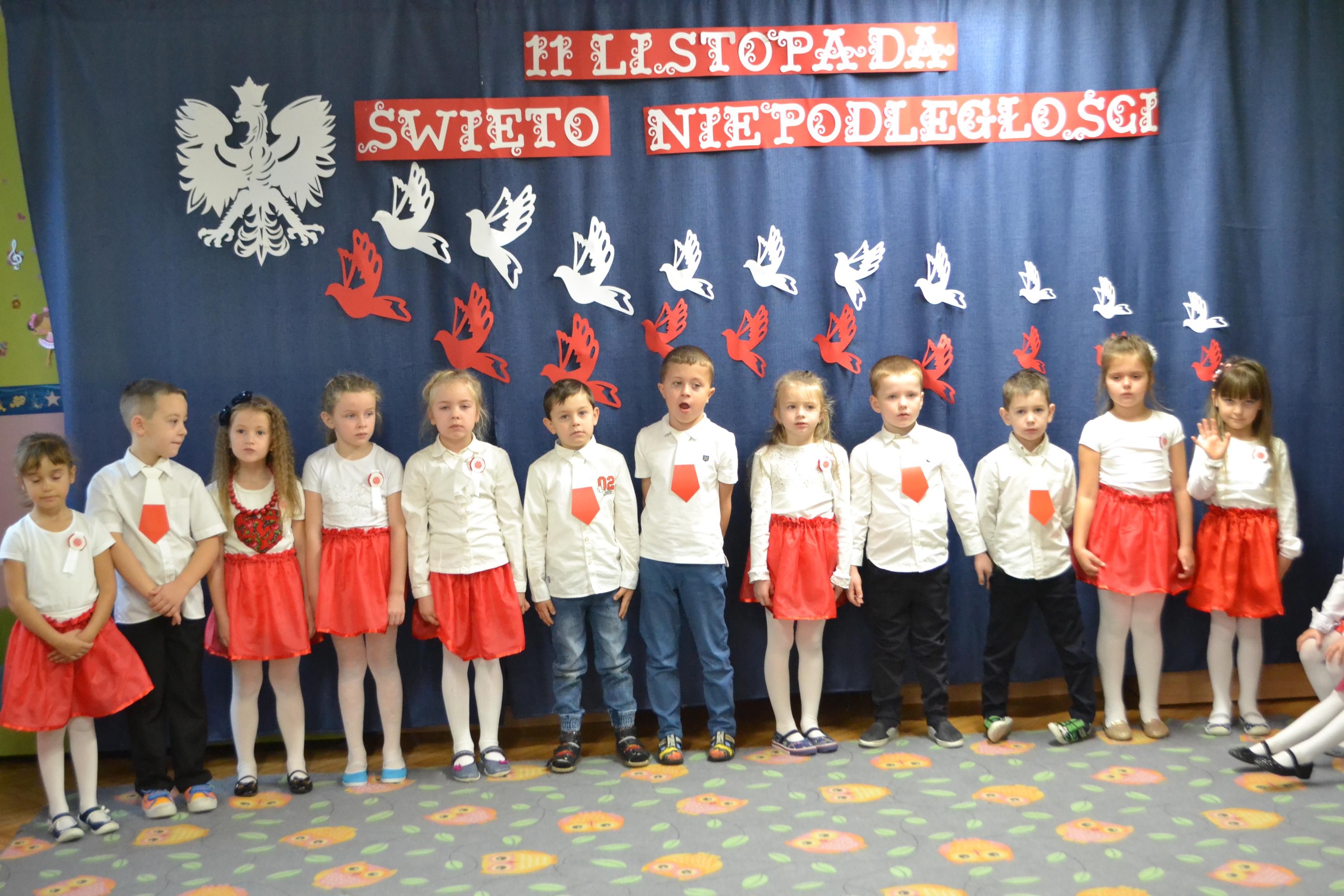 Święto 11 Listopada w naszym przedszkolu.